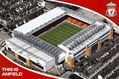 "Liverpool FC ""Anfield Aerial"" EPL Stadium Poster - GB Eye (UK)"