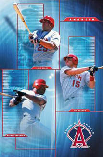 "Anaheim Angels ""Sluggers"" (Anderson, Glaus, Salmon) Poster - Costacos 2003"