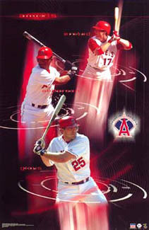 "Anaheim Angels ""Halo Power"" (Anderson, Erstad, Glaus) Poster - Starline 2003"