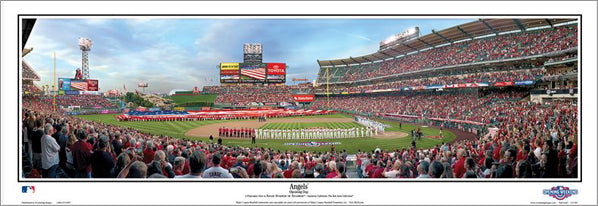 "Los Angeles Angels ""Opening Day"" Angel Stadium Panoramic Poster Print - Everlasting 2015"