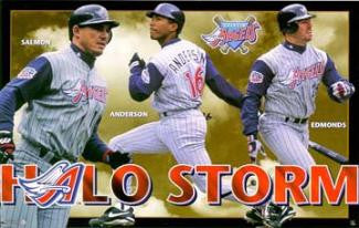"Anaheim Angels ""Halo Storm"" Poster (Anderson, Salmon, Edmonds) - Costacos 1998"