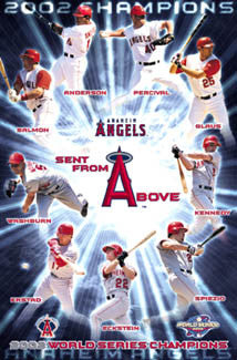 "Anaheim Angels ""Sent From Above"" 2002 World Series Champions Poster - Costacos Sports"