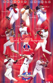 Anaheim Angels 2002 World Series Champions Commemorative Poster - Starline Inc.