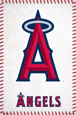 Los Angeles Angels Official MLB Baseball Team Logo Poster - Trends International