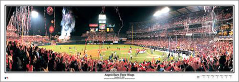 "Anaheim Angels ""Earn Their Wings"" (World Series 2002) Commemorative Panoramic Poster"