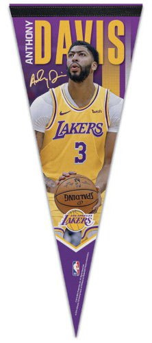Anthony Davis LA Lakers Signature Series Action Premium Felt Collector's Pennant - Wincraft Inc.