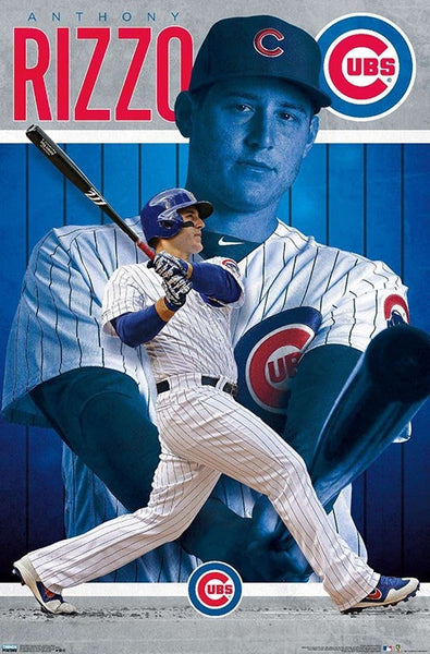 "Anthony Rizzo ""Superstar"" Chicago Cubs Baseball Action Wall Poster - Trends 2020"