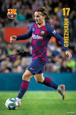 "Antoine Griezmann ""Superstar"" FC Barcelona Official La Liga Soccer Action Poster - G.E. (Spain)"