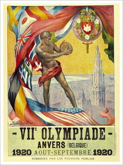 Antwerp Anvers Belgium 1920 Summer Olympic Games Official Poster Reproduction - Olympic Museum