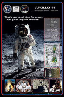 Apollo 11 (First Men on the Moon) Commemorative Poster - Pyramid 2009