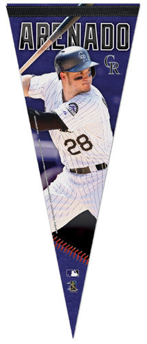 "Nolan Arenado ""Superstar Series"" Colorado Rockies MLB  Premium Felt Collectors Pennant - Wincraft"