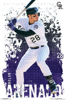 "Nolan Arenado ""Superstar"" Colorado Rockies Official MLB Baseball Poster - Trends 2017"