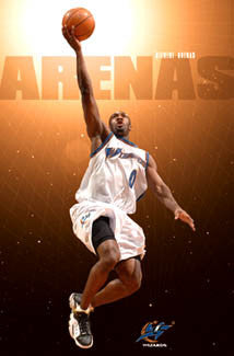 "Gilbert Arenas ""Shining Star"" Washington Wizards NBA Action Poster - Costacos 2006"