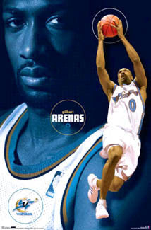 "Gilbert Arenas ""Agent Zero"" Washington Wizards Poster - Costacos 2007"