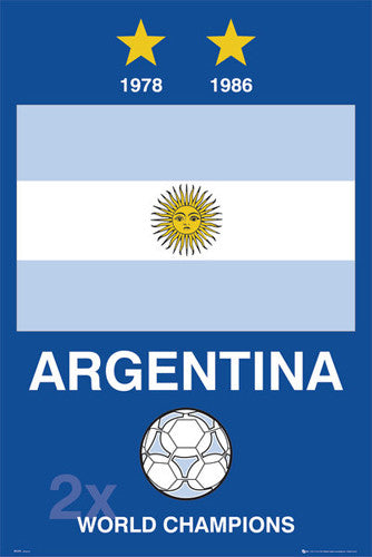 "Argentina ""2x World Champions"" - GB Posters 2007"