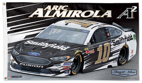 Aric Almirola NASCAR #10 Smithfield Ford Fusion Official HUGE 3'x5' Commemorative Flag - Wincraft 2018