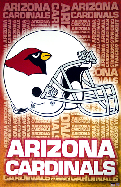 Arizona Cardinals Official NFL Football Team Logo Helmet Design Poster - Starline Inc.
