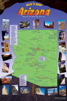 Arizona Rock Climbing Map Poster - Rock 'N Road