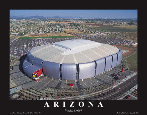 "Arizona Cardinals University of Arizona Stadium ""From Above"" Poster - Aerial Views Inc."