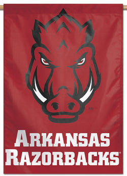 "Arkansas Razorbacks ""Boar-Face"" Official NCAA Team Logo NCAA Premium 28x40 Wall Banner - Wincraft Inc."