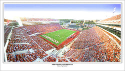 "Arkansas Razorbacks Football Gameday ""Wooo Pig Sooie!!"" Panoramic Poster Print"