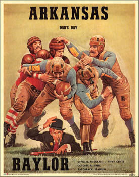 "Arkansas Razorbacks 1960 ""Dad's Day"" vs. Baylor Vintage Program Cover Poster Print - Asgard"