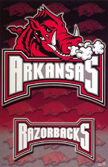 Arkansas Razorbacks Official NCAA Team Logo Poster - Starline Inc.