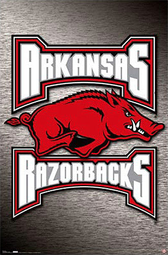 Arkansas Razorbacks Official Team Logo Poster - Costacos Sports