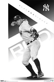 "Alex Rodriguez ""Black & White"" New York Yankees Poster - Costacos 2010"