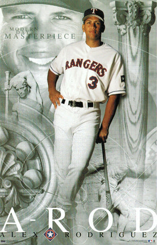 "Alex Rodriguez ""Modern Day Masterpiece"" Texas Rangers Poster - Costacos 2001"