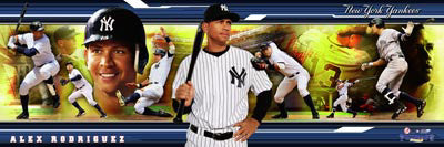 "Alex Rodriguez New York Yankees ""Bronx Bomber"" Panoramic Poster Print - Photofile Inc."