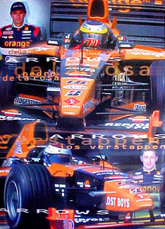 """Orange Arrows"" (Verstappen/de la Rosa) - UK 2000"