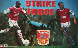 "Arsenal FC ""Strike Force"" (Ian Wright, Dennis Bergkamp) Poster - Starline 1995"
