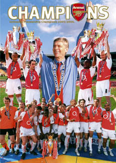 "Arsenal FC ""Unbeaten Champions"" (2004) Commemorative Poster - GB Posters"