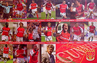 "Arsenal FC ""The Gunners 2000/01"" Team Composite Poster - U.K. 2001"