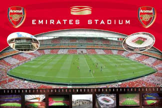 Arsenal FC Emirates Stadium Matchday Poster - GB Eye (UK)