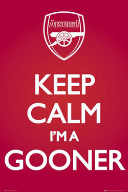 "Arsenal FC ""Keep Calm I'm A Gooner"" Poster - GB Eye (UK)"