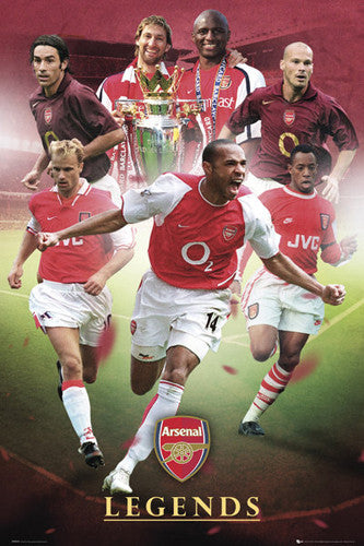 "Arsenal FC ""Legends"" Historical Collage Poster - GB Eye (UK)"