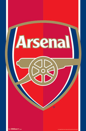 Arsenal FC Official Club Crest EPL Team Logo Poster - Trends International