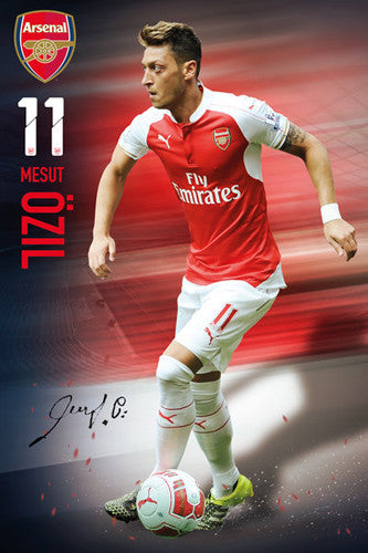 "Mesut Ozil ""Signature Series"" Arsenal FC Official EPL Soccer Football Poster - GB Eye Inc."