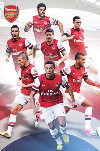 "Arsenal FC ""Seven Stars"" 2012/13 Soccer Action Poster - GB Eye (UK)"