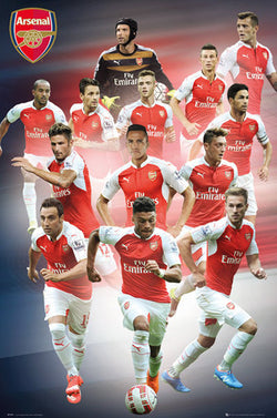 "Arsenal FC ""Superstars"" (13 Players In Action) Official EPL Soccer Football Poster - GB Eye 2015/16"
