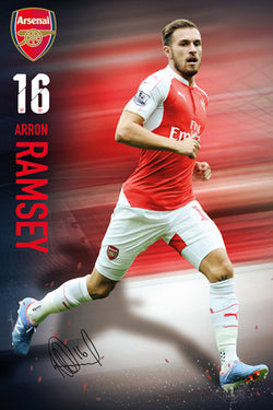 "Aaron Ramsey ""Signature Series"" Arsenal FC Official EPL Soccer Football Poster - GB Eye 2015/16"
