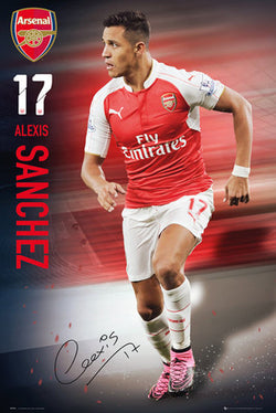 "Alexis Sanchez ""Signature Series"" Arsenal FC Official EPL Soccer Football Poster - GB Eye 2015/16"