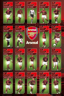 "Arsenal FC ""Super 19"" (2005/06) - GB Posters"