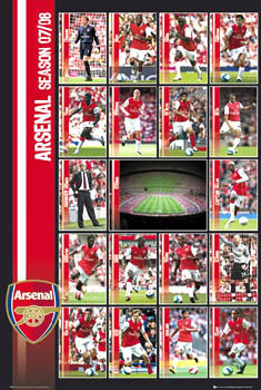 "Arsenal FC ""Super 18"" (2007/08) - GB Posters"
