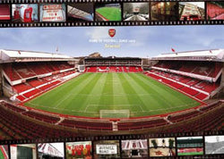 "Arsenal Stadium Highbury ""Home of Football Since 1913"" Official EPL Football Team Poster - GB Eye 2005"