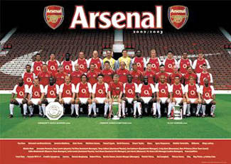 Arsenal FC Official EPL Team Portrait 2002/03 Poster - GB Posters