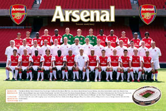 Arsenal FC Official Team Portrait 2006/07 Poster - GB Posters