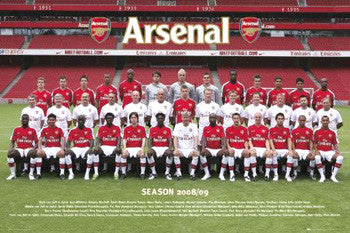 Arsenal FC Official Team Portrait 2008/09 Poster - GB Eye